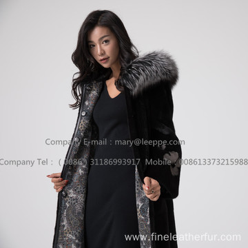 Reversible Women Mink Fur Coat